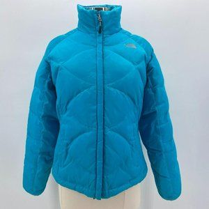 The North Face 550 Goose Down Blue Quilted Puffer